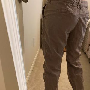 Jcrew chinos, lightweight mocha brown
